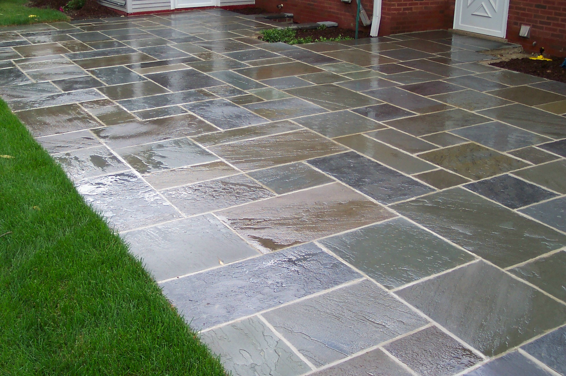 of stone concrete cdbossington vs pavers image texture ideas design patio interior stamped