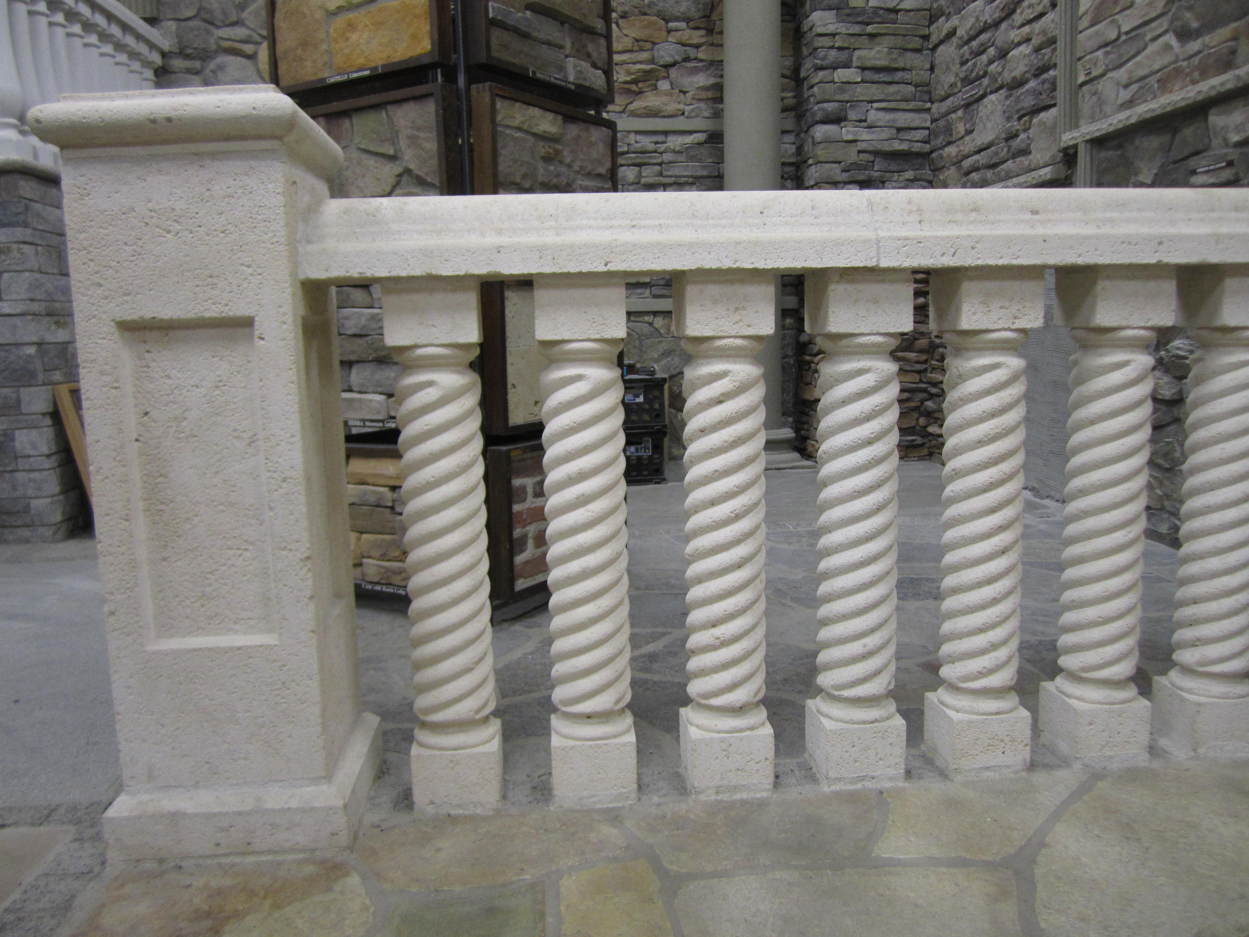Concrete balustrade railing 34 best images about for Schreibtisch 1m tief