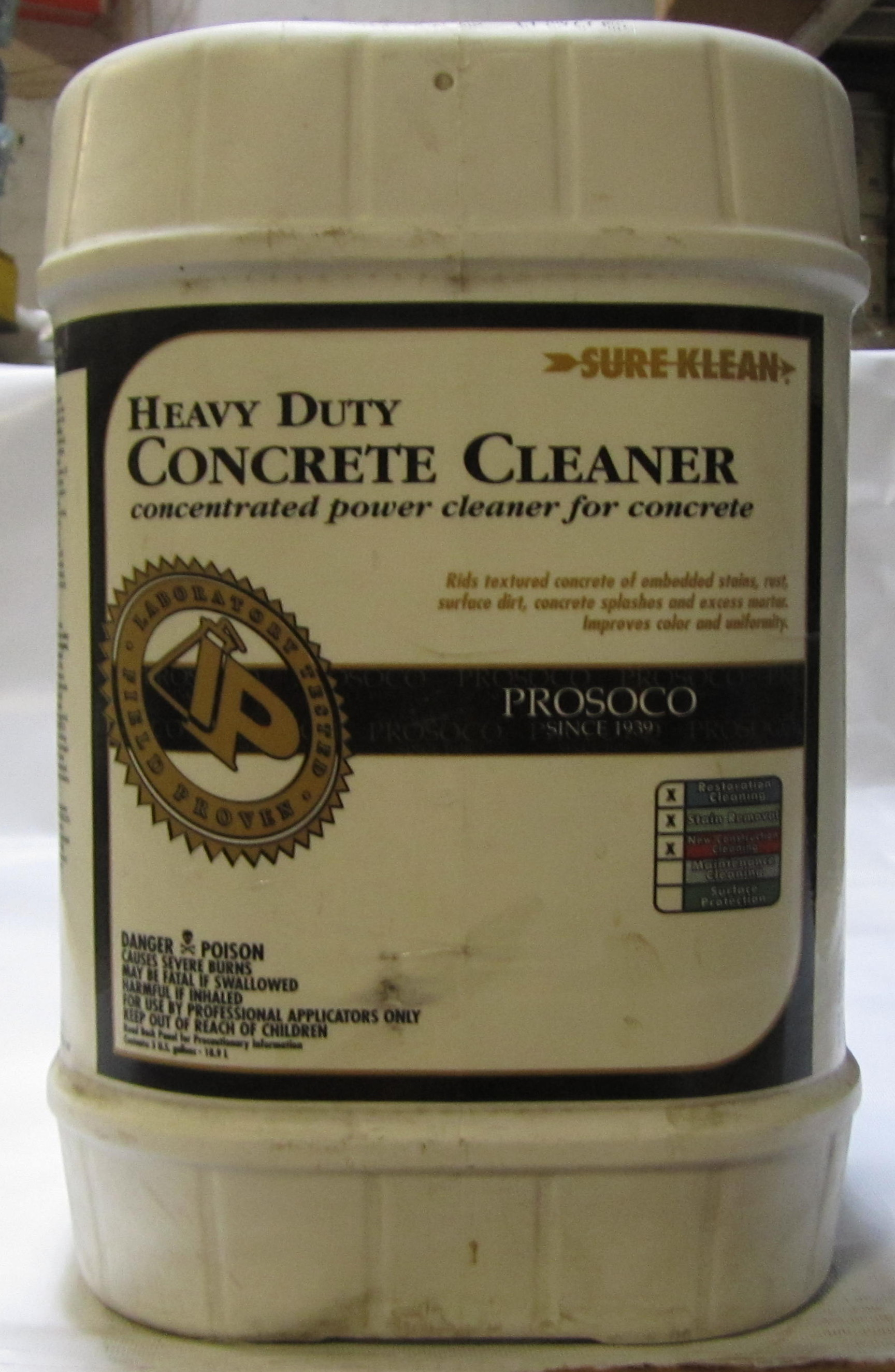Masonry depot sure klean heavy duty concrete cleaner for Best rated concrete cleaner