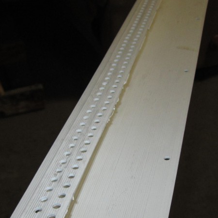 PVC starter track with drip edge